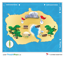 Personality Test Map from PeopleMaps