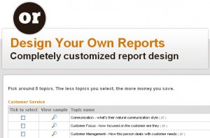 custom report design