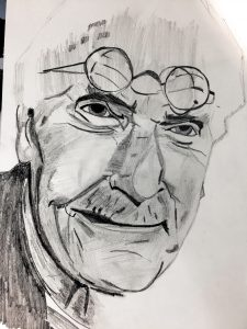 Carl Jung Sketch by Martin Gibbons