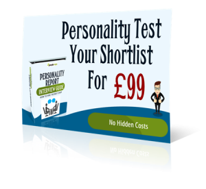 personality test shortlist